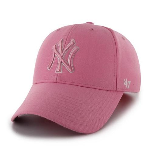 NY Yankees Pink MVP Adjustable Cap
