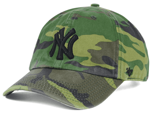 NY Yankees Camouflage Clean Up Adjustable Cap