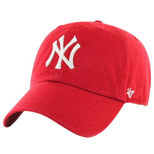 NY Yankees Red Clean Up Adjustable Cap