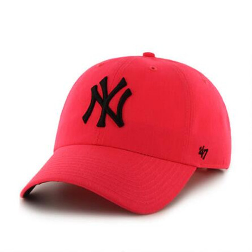NY Yankees Neon Pink Clean Up Adjustable Cap