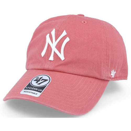 NY Yankees Light Red Clean Up Adjustable Cap