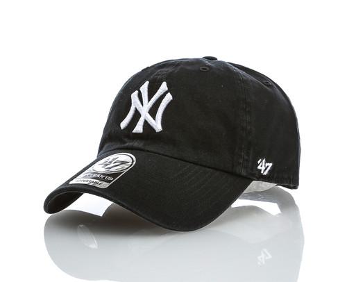 NY Yankees Black Clean Up Adjustable Cap