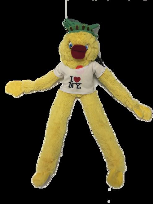 I Love NY Yellow Plush Screaming Statue of Liberty Duck