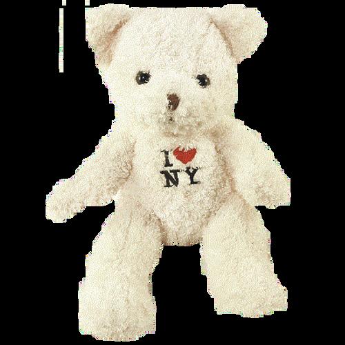 I Love NY Cream Medium Sized Plush Teddy Bear
