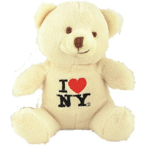 I Love NY Light Brown Small Sized Plush Teddy Bear