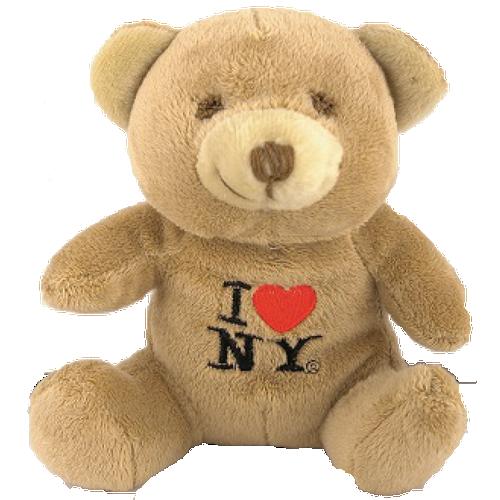 I Love NY Brown Small Sized Plush Teddy Bear