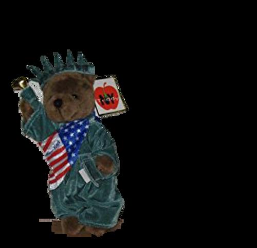 Statue of Liberty New York Patriotic Brown Plush Teddy Bear