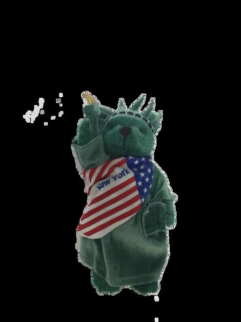 Statue of Liberty New York Patriotic Green Plush Teddy Bear