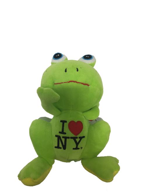 I Love NY Plush Green Frog