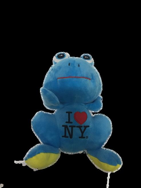 I Love NY Plush Blue Frog