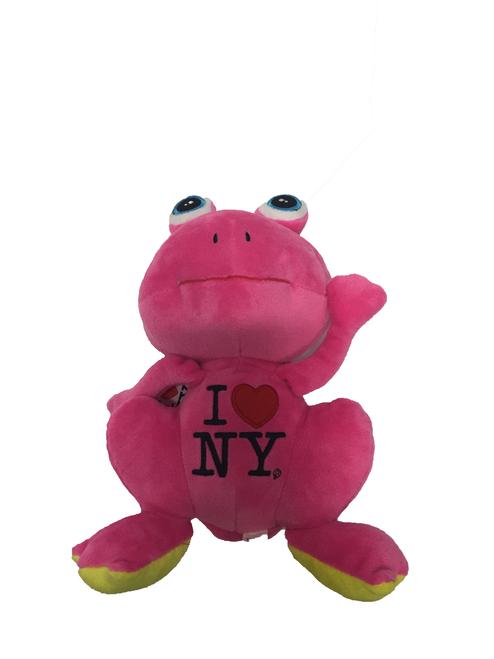 I Love NY Plush Pink Frog