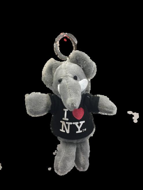 I Love NY Elephant Plush Key Chain