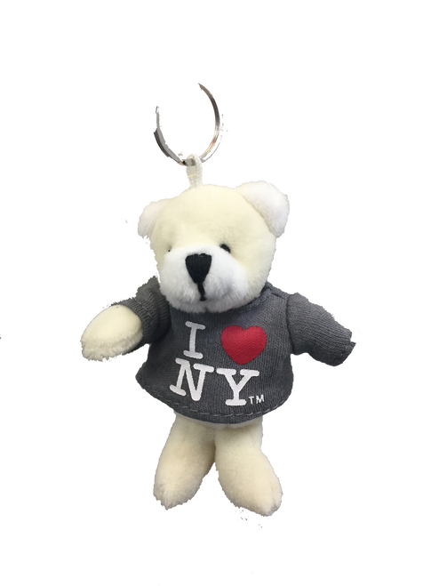 I Love NY Polar Bear Plush Key Chain