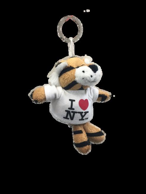 I Love NY Tiger Plush Key Chain
