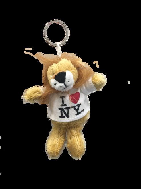 I Love NY Lion Plush Key Chain