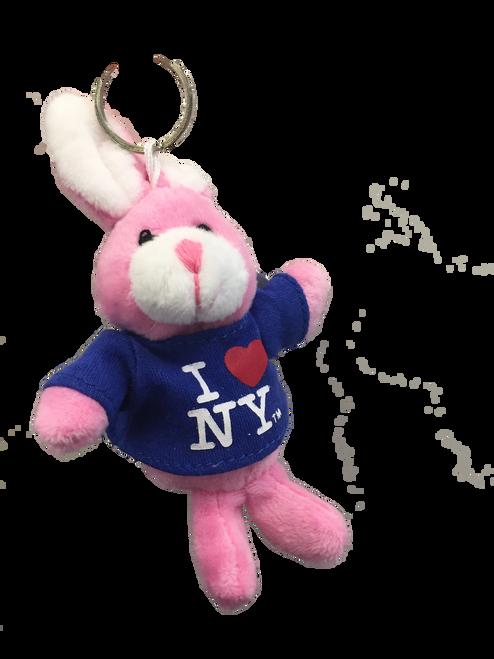I Love NY Bunny Rabbit Plush Key Chain