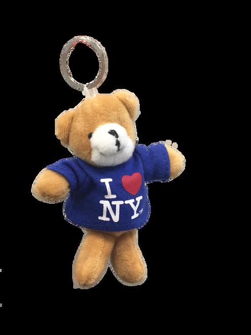 I Love NY Teddy Bear Plush Key Chain