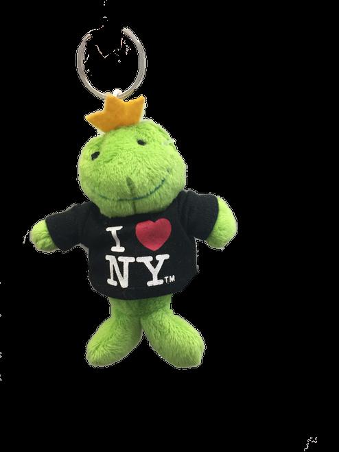 I Love NY Frog Plush Key Chain