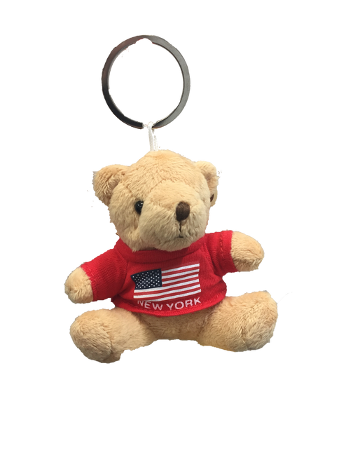 New York American Flag Plush Teddy Bear Red T-Shirt
