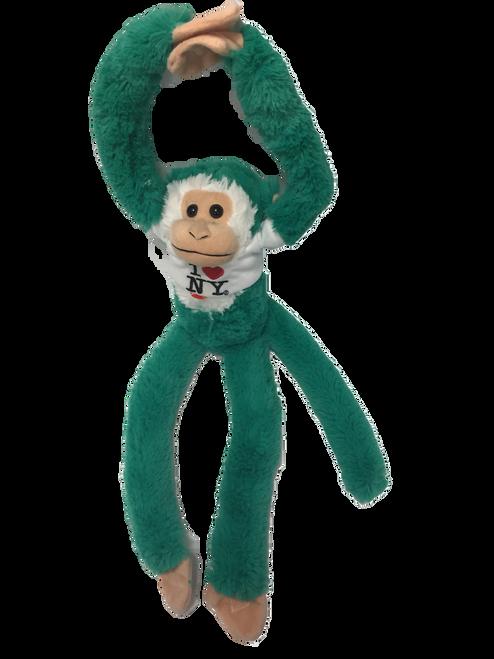 I Love NY Green Plush Screaming Monkey