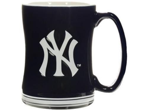 Yankees Raised Logo Navy Mug