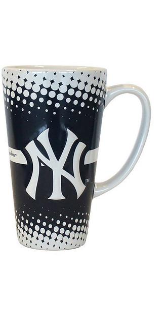 Yankees White & Navy Dotted Java Mug