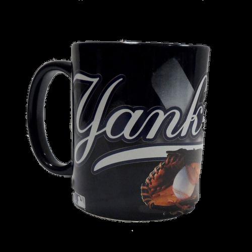 NY Yankees Metallic Baseball Mug