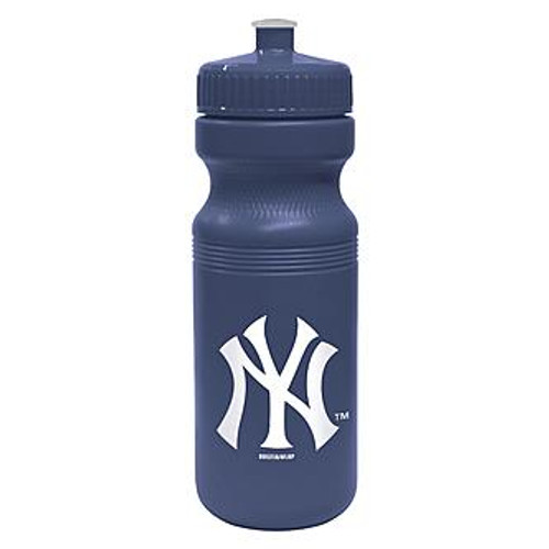 NY Yankees Navy Squeeze Water Bottle