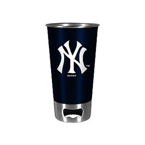 Yankees Navy Metal Pint with Openers