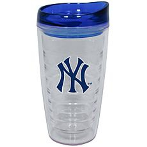 Yankees Textured Plastic Water Bottle with Lid