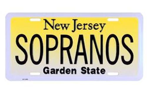 Sopranos NJ License Plate
