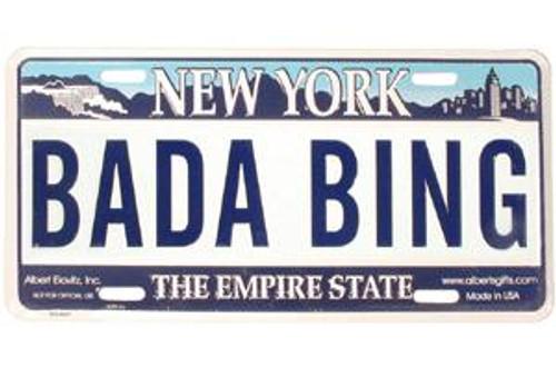 Bada Bing NY License Plate