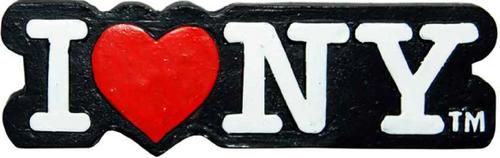 Poly Black Shaped I Love NY Magnet