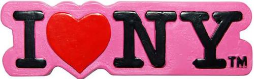 Poly Pink Shaped I Love NY Magnet
