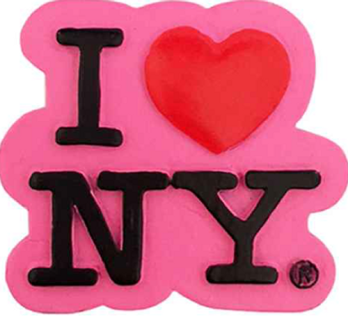 Poly Neon Pink I Love NY Magnet