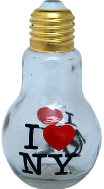 I Love NY Bulb Bottle Glassware