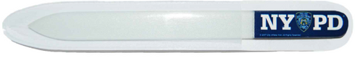 NYPD Blue Glass Nail File with Double Sided Logo