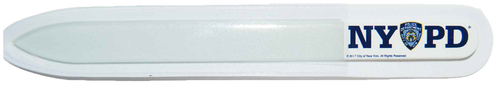 NYPD White Glass Nail File with Double Sided Logo