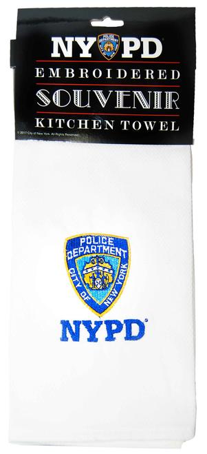 NYPD White/ Logo Kitchen Towel
