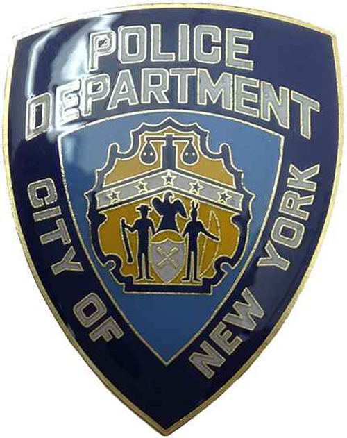 NYPD Blue Shield Metal Magnet