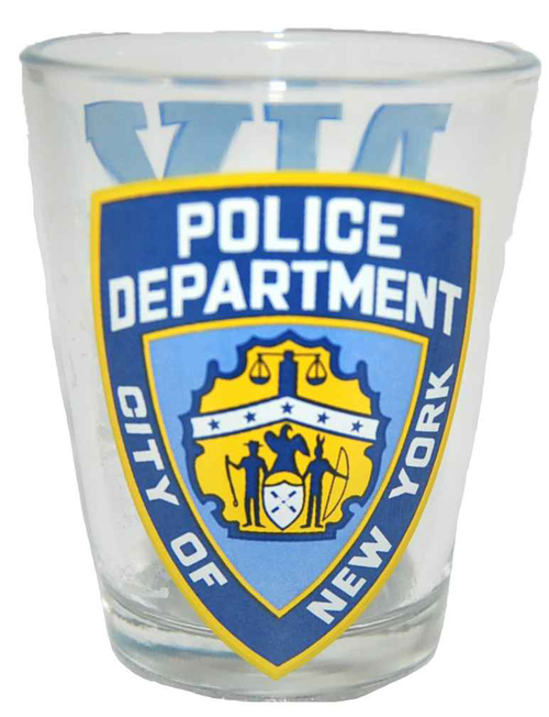 NYPD Clear/ Logo/ Shield Shot Glass