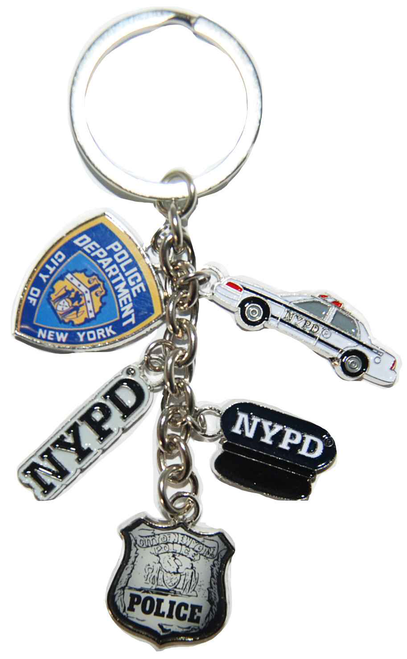 NYPD Dangle Key Ring