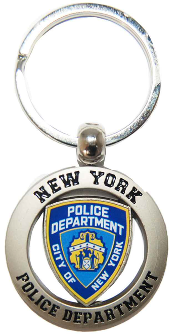 NYPD Shield Cut Out Key Ring
