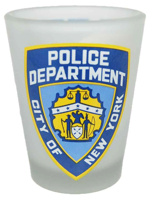 NYPD Frosted/ Logo/ Shield Shotglass