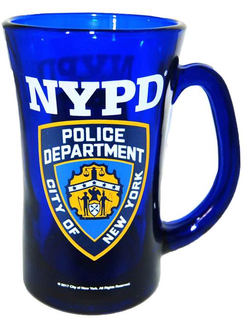 NYPD Cobalt Blue/ Shield Beer Mug