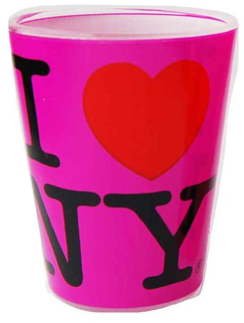 I Love NY Neon Pink Shot Glass