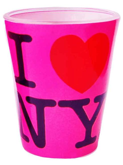 I Love NY Hot Pink Shot Glass