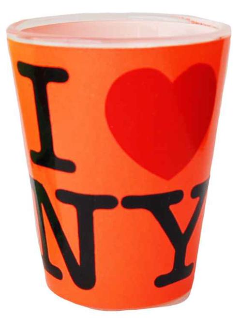 I Love NY Neon Orange Shot Glass