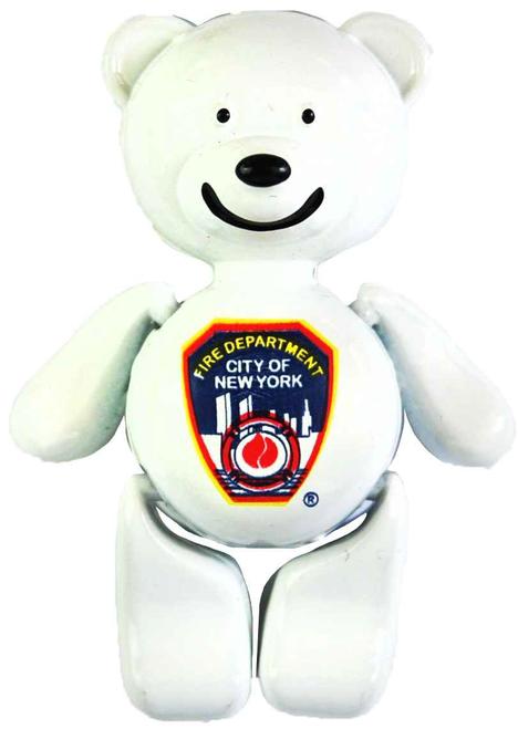 FDNY White/ Logo Bear Magnet