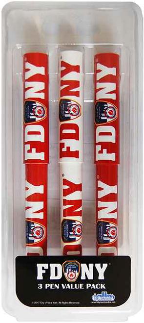 FDNY Red/ White 3PC Pen Set